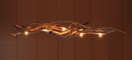 Collection atelier galiano for Bois flotte luminaire